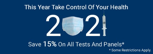 January Healthy Promotion: 15% OFF On Any Test (Excludes Covid-19 Tests)