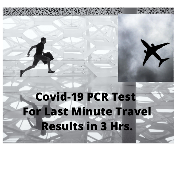 Covid-19 PCR (Swab) Test. 3-Hour Results.